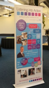 Listening Into Action event at Big Shed Conferences in Leicester